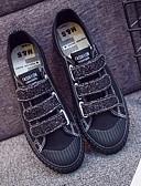 preiswerte Damen Nachtwäsche-Damen Schuhe Leinwand Frühling Komfort Sneakers Flacher Absatz Weiß / Schwarz