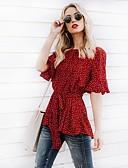 ieftine Tricou-Pentru femei Bluză Șic Stradă - Buline Cu Șiret