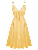 cheap Women's Nightwear-Women's A Line Dress - Solid Colored Strap