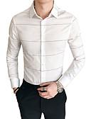 abordables Camisas de Hombre-Hombre Básico Camisa Houndstooth