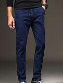 tanie Męskie kurtki i płaszcze-Męskie Moda miejska Bawełna Jeansy Spodnie Solidne kolory