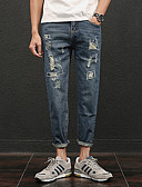 ieftine Pantaloni Bărbați si Pantaloni Scurți-Bărbați Zvelt Pantaloni Chinos Pantaloni - Găurite, Mată