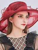 זול ביקיני ובגדי ים-כובע דלי / כובע עם שוליים רחבים / כובע קש - טלאים קפלים מסיבה / חג בגדי ריקוד נשים