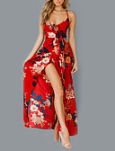 baratos Vestidos de Mulher-Mulheres Vintage Bainha Vestido Listrado Longo
