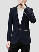 ieftine Tricou Bărbați-Bărbați Petrecere / Zilnic Afacere Primăvară Regular Blazer, Mată Rever Clasic Manșon Lung Poliester Negru / Roșu-aprins / Bleumarin XL / XXL / XXXL