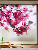 Χαμηλού Κόστους Αντρικά Πουκάμισα-Window Film & αυτοκόλλητα Διακόσμηση Ματ / Σύγχρονο Λουλούδι PVC Αυτοκόλλητο παραθύρου / Ματ