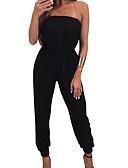 povoljno Ženski jednodijelni kostimi-Žene Jumpsuits Jednobojni Lađa izrez
