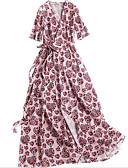 זול שמלות נשים-מידי פרחוני - שמלה סווינג בגדי ריקוד נשים