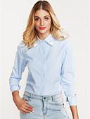 tanie Koszula-Koszula Damskie Bawełna Solidne kolory