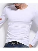 ieftine Maieu & Tricouri Bărbați-Bărbați Rotund Tricou De Bază - Mată / Manșon Lung