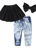 povoljno Kompletići za djevojčice-Dijete koje je tek prohodalo Djevojčice Na točkice Bez rukávů Komplet odjeće