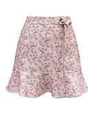 tanie Damska spódnica-Damskie Puszysta Podstawowy Bawełna Bodycon Spódnice Solidne kolory Czarno-biały, Pofałdowany