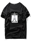 ieftine Maieu & Tricouri Bărbați-Bărbați Rotund Tricou Portret / Manșon scurt