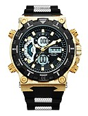 cheap Sport Watches-Men's Sport Watch Japanese Quartz Black 30 m Water Resistant / Water Proof Calendar / date / day Chronograph Analog-Digital Luxury Fashion - Gold Black Two Years Battery Life / Noctilucent