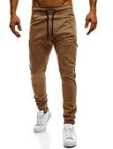tanie Męskie spodnie i szorty-Męskie Rozmiar plus Bawełna Szczupła Typu Chino Spodnie Jendolity kolor