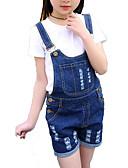 ieftine Seturi Îmbrăcăminte Fete-Copii Fete De Bază / Șic Stradă Zilnic / Sport Dungi ripped Fără manșon Bumbac / Poliester Set Îmbrăcăminte Alb 150