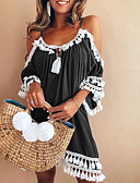 cheap Corsets-Women's Going out / Beach Loose Shirt Dress