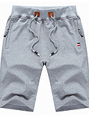 abordables Pantalones para Mujer-Mujer Básico Shorts Pantalones - Geométrico