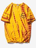 ieftine Maieu & Tricouri Bărbați-Bărbați Rotund Tricou Geometric / Manșon scurt