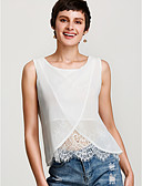 cheap Women's T-shirts-Women's Holiday Basic Loose Blouse - Solid Colored / Summer / Lace