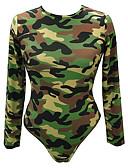 cheap Bodysuit-Women's Basic Bodysuit - Camouflage Print