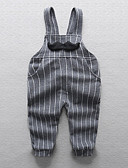 cheap Girls' Clothing-Baby Boys' Street chic Solid Colored / Striped Cotton Overall & Jumpsuit Black 2-3 Years(100cm) / Toddler