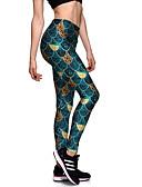 זול 2017ביקיני ובגדי ים-בגדי ריקוד נשים מדפיס מכנסי יוגה - ירוק ספורט ספנדקס טייץ רכיבה על אופניים / חותלות פילאטיס, כושר גופני, ריצה מידות גדולות לבוש אקטיבי קל משקל, נושם, ייבוש מהיר סטרצ'י (נמתח)