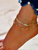 baratos Cachecóis da Moda-Camadas Tornezeleira - Formato de Letras Fashion, Multi Camadas Dourado / Prata Para Presente / Diário / Mulheres