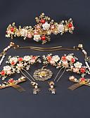 preiswerte Cocktailkleider-Aleación Haar-Stock mit Blume Ein Paar × 2 Hochzeit Kopfschmuck