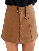 tanie Damska spódnica-Damskie Boho Linia A / Bodycon Spódnice - Wyjściowe Solidne kolory Wysoka talia / Jesień / Zima