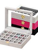 hesapli Dans Aksesuarları-Karbon fiber Oval Kapaklı Ev organizasyon, 1pc Pudełka na biżuterię