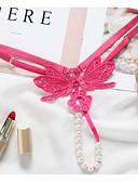 povoljno Muško egzotično rublje-Žene Tange - Vez, Perlice Niski struk Sexy