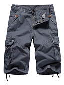 povoljno Muške duge i kratke hlače-Muškarci Širok kroj Klasične hlače Hlače - Jednobojni Vojska Green