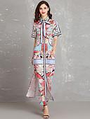 tanie Sukienki-Damskie Szczupła Pochwa Sukienka - Geometric Shape Kołnierz stawiany Midi