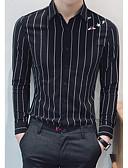 ieftine Tricou Bărbați-cămașă pentru bărbați - guler geometric / dungat pentru cămașă