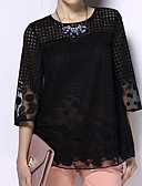 cheap Women's Blouses-Women's Holiday Basic Plus Size Loose Blouse - Geometric Print / Summer
