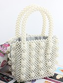 cheap Fashion Scarves-Women's Bags Acrylic Tote Pearls White