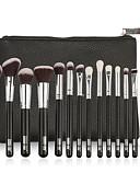 ieftine Fuste de Damă-15buc Machiaj perii Profesional Pensulă Blush Perie Fond Perie Buze Perie Fard Pensule de Gene Profesional / Acoperire Integrală Lemn / Bambus
