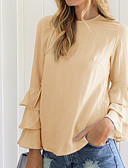 cheap Women's Blouses-Women's Street chic Blouse - Solid Colored