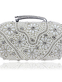 cheap Fashion Scarves-Women's Bags Acrylic / Alloy Evening Bag Crystals / Pearls Gold / Black / Silver