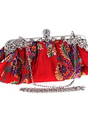 cheap Women's Skirts-Women's Bags Polyester Evening Bag Crystals / Embroidery Black / Red