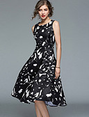 cheap Women's Dresses-Women's Vintage / Street chic A Line / Swing Dress - Solid Colored / Floral / Geometric Ruched / Pleated / Tassel