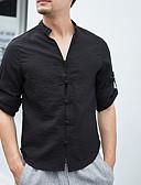 זול חולצות לגברים-חולצה לגבר - צוואר בצבע מלא