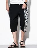 ieftine Maieu & Tricouri Bărbați-Bărbați Mărime Plus Size Bumbac Picior Larg Pantaloni Bloc Culoare
