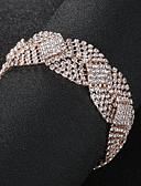 billiga Klänningar till brudens mor-Dam Kristall Kedje & Länk Armband Europeisk Mode Legering Armband Smycken Guld / Silver Till Bröllop Dagligen