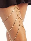 halpa Kvartsikellot-Naisten Kehokorut 45 cm Jalkaketju Kulta / Hopea Line Shape naiset / Tyylikäs Tekojalokivi / Metalliseos Pukukorut Käyttötarkoitus Klubi / Bikini 13.0*9.0*3.0 cm Kesä
