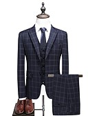 ieftine Polo Bărbați-Bărbați Rever Clasic Mărime Plus Size Costume Houndstooth / Manșon Lung