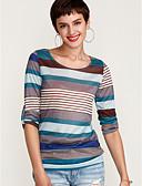 ieftine Tricou-Pentru femei Tricou Dungi Imprimeu