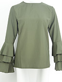 abordables Camisas para Mujer-Mujer Tallas Grandes Blusa Un Color