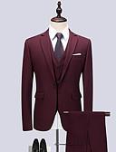 זול בלייזרים וחליפות לגברים-אחיד דש קלאסי חליפות-בגדי ריקוד גברים / שרוול ארוך / עבודה
